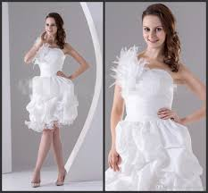 white feather cocktail party dress one shoulder neck pick up