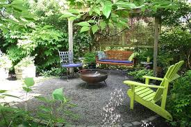 Swing Fire Pit by Gravel Patio Ideas Patio Traditional With Fire Pit Bench Swing