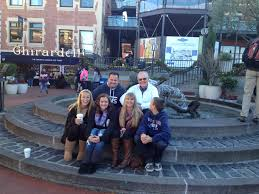 three generations at ghirardelli square on thanksgiving weekend