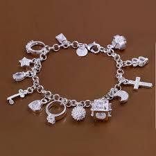 fine charm bracelet images Free shipping 925 jewelry silver plated jewelry bracelet fine jpeg