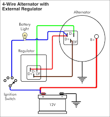 2 wire alternator diagram wiring diagram byblank