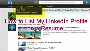 Job Profile In Resume by How To List My Linkedin Profile On A Resume Tina Brinkley Potts
