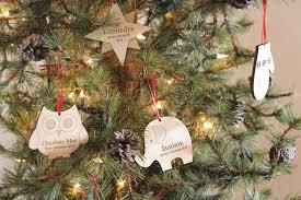 personalized gingerbread keepsake ornament smiling tree