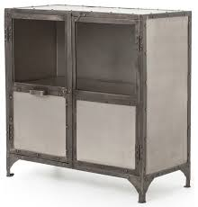 Metal Sideboard Buffet by Fronzoni Industrial Loft Wide Metal Shoe Locker Style Sideboard