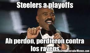 Steelers Ravens Meme - steelers a playoffs ah perdon perdieron contra los ravens meme de