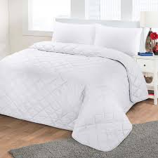 luxury soft plain dyed polycotton quilted bedspread bed quilt