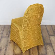 yellow chair covers metallic spandex chair covers wedding party reception decorations