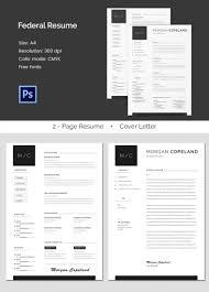 Free Federal Resume Sample Format For Federal Resume