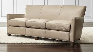 briarwood leather sofa crate and barrel