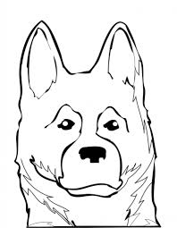 german shepherd head coloring pages german shepherd coloring page
