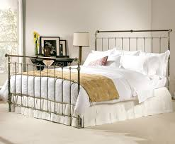 Vintage Bed Frames Iron U0026 Brass Sleigh Bed Vintage White Charles P Rogers Beds