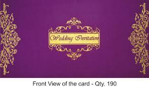 Best Indian Wedding Invitations Indian Wedding Invitations Rectangle Landscape Purple Gold Floral