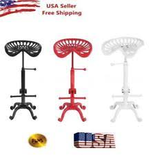 Tractor Seat Bar Stool Industrial Style Tractor Seat Bar Stool Adjustable Swivel Metal