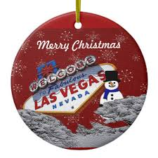merry las vegas snowman ornament zazzle