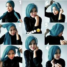tutorial hijab pesta 2 kerudung cara memakai jilbab pashmina terbaru dan modern