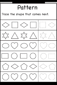 patterns u2013 trace the shape that comes next u2013 one worksheet free