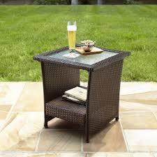 Hampton Bay Wicker Patio Furniture Patio 26 Patio Side Table 205145836 Hampton Bay Spring Haven