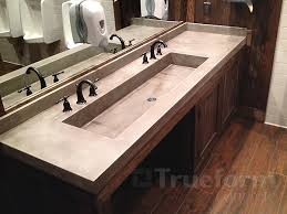 Commercial Bathroom Mirrors by Master Bathroom With Concrete Rectangle Bathroom Sink And Wide