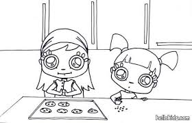 girls making cookies coloring pages hellokids