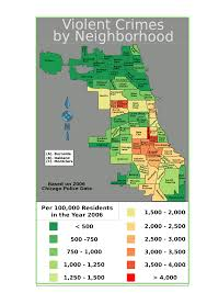 Neighborhoods Of Chicago Map by File Chicago Violent Crime Map 2006 Svg Wikimedia Commons