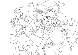 grave digger monster truck coloring pages reimu hakurei and marisa kirisame coloring page by