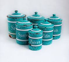 enamel kitchen canisters french vintage enamel canister set of 6 art deco 1920s bb frères