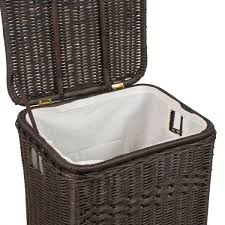 Container Store Laundry Hamper by Rectangular Wicker Laundry U0026 Storage Hamper The Basket Lady