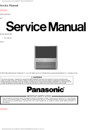 panasonic th 50pv70f p 50px70b e ch gph10de sm service manual
