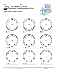 these math worksheets help students tell time to 10 five and one
