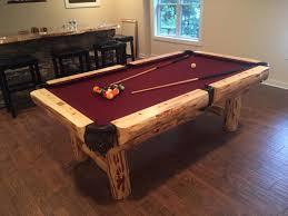 rustic billiards dining room pool tables