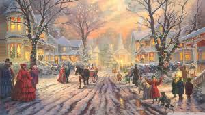 victorian christmas carol by thomas kinkade 4k hd desktop