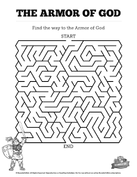ephesians 6 the armor of god bible mazes can your kids navigate