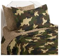 camo bedrooms instyle home collection camouflage full bedding ensemble brown