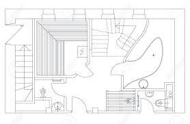 floor plan shower symbol standard furniture symbols used in architecture plans icons set