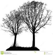 lime silhouette vector silhouette of two trees stock vector image 53378508