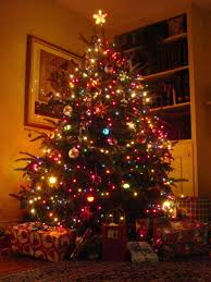 christmas tree with lights decorated multicolored christmas tree themes pictures christmas