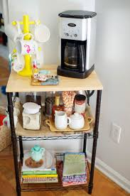our little coffee station microwave cart coffee and dorm