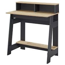 bureau d 騁ude industriel emy bureau industriel décor chêne et gris foncé l 80 cm achat