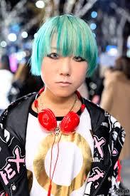 polka dot hair green hair galaxxxy jacket polka dots platforms in harajuku