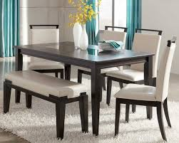 Black Dining Room Set With Bench Dining Table With Bench As The Dining Room Iomnn
