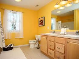 yellow tile bathroom paint colors yellow paint and wood bathroom