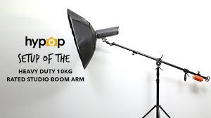 studio light boom stand setup of the heavy duty 10kg rated boom stand youtube