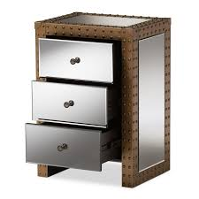 Metal Nightstands With Drawers Furniture Wonderful Modern Metal Nightstands Amazing Of With