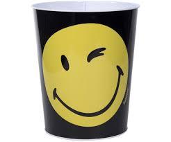 poubelle bureau corbeille poubelle de bureau chambre licence smiley noir 6442
