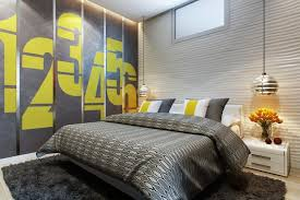 Bed Back Wall Design Small Bedrooms Use Space In A Big Way