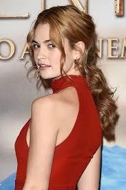 wedding hairstyle ideas on cinderella actress lily james glamour