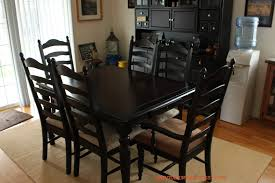 Painted Kitchen Table And Chairs by Black Kitchen Table And Chairs Nerdstorian Impressive Black