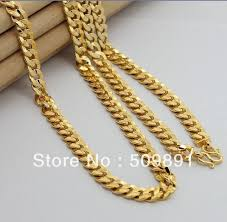 2015 men s jewelry 8mm 60cm new arrival ymb2 men jewelry top quality 24k gold color 8mm links chain