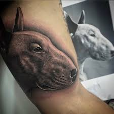 tattoo pitbull head in 3d ideas tattoo designs