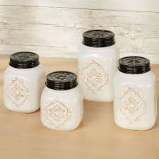 vintage style kitchen canisters rustic farmhouse vintage style kitchen canister set